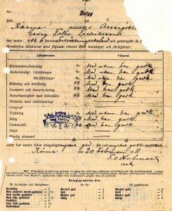 1911_Skolbetyg